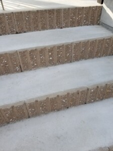 化粧ブロックの階段